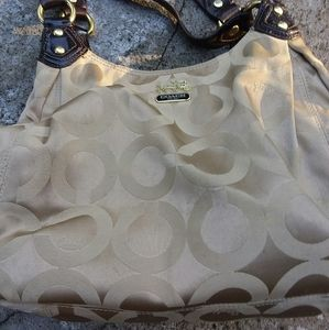Coach Madison Maggie Beige Brown 14305